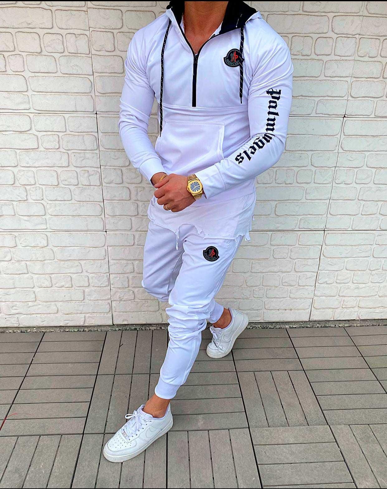 Мужской спортивный костюм, худи + штаны